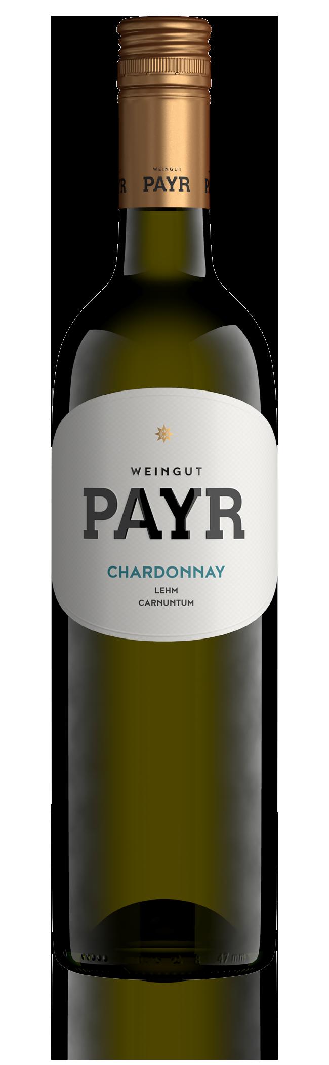 Packshot Weingut Payr Chardonnay Lehm Spiegelung 01 01