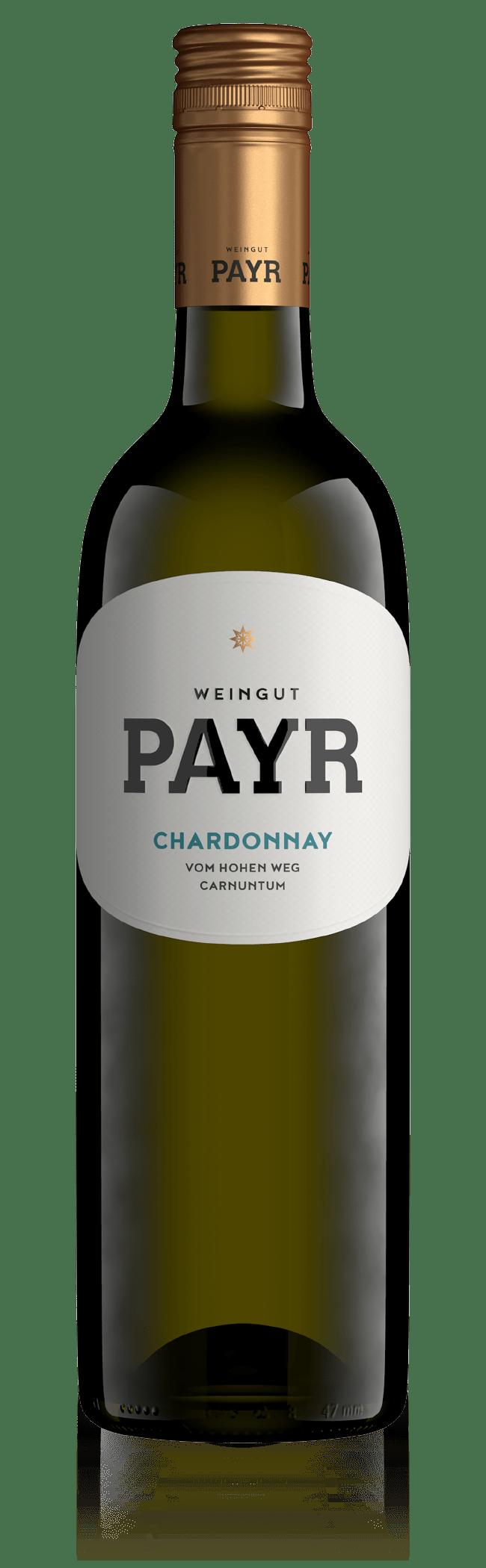 Weinflasche Chardonnay vom Lehm